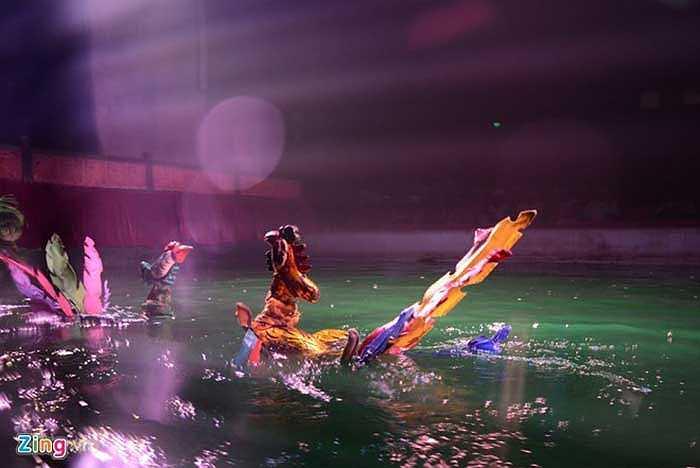 Những tiết mục được đoàn lựa chọn phục vụ khán giả thường xuyên là sự kết hợp của 14 trò đặc sắc, chọn lọc từ hơn 400 trò rối trong kho tàng rối cổ Việt Nam như Trống hội Thăng Long, Múa rồng, Em bé chăn trâu thổi sáo, Múa phượng, Truyền thuyết Lê Lợi trả gươm...