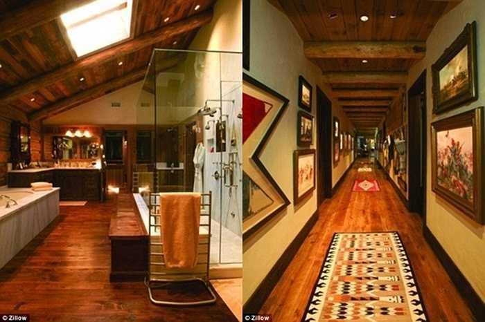 Những hình ảnh về tầng gác mái và hành lang lát gỗ