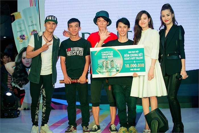 Kết thúc chương trình, tiết mục tâng bóng nghệ thuật của ba chàng trai trẻ đã giành ngôi vị quán quân. Giải thưởng dành cho họ là một phần thưởng tiền mặt trị giá 10 triệu đồng cùng một chuyến du lịch Singapore.