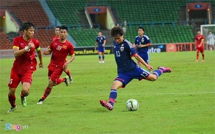 Ngôi sao nguy hiểm nhất của U23 Nhật Bản Takumi Minamino trận này chơi khá vô duyên