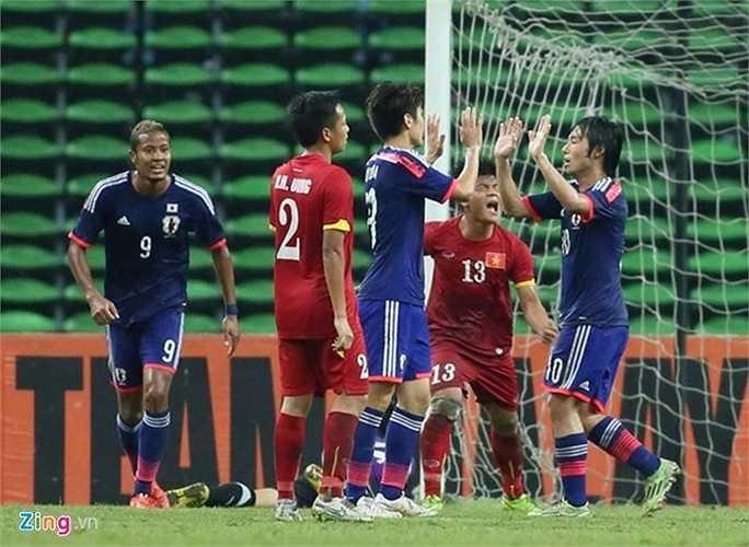 U23 Việt Nam bị Nakajima chọc thủng lưới khi hiệp 1 gần kết thúc