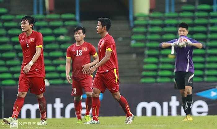 Dù các hậu vệ đã chơi hết sức nhưng U23 Việt Nam không thể làm gì hơn