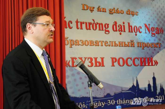 Ông Kosachev Konstatin Iosifovich, Chủ nhiệm UB đối ngoại Hội đồng Liên bang Nga tham dự họp báo về dự án sáng 30/3