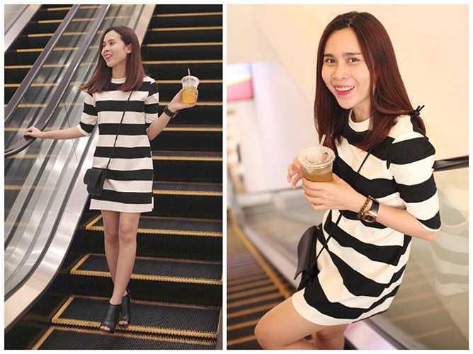 Lưu Hương Giang và phong cách thời trang dạo phố đơn giản nhưng vẫn ấn tượng.
