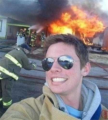Rõ ràng đây không phải nhà của người đàn ông này bị cháy