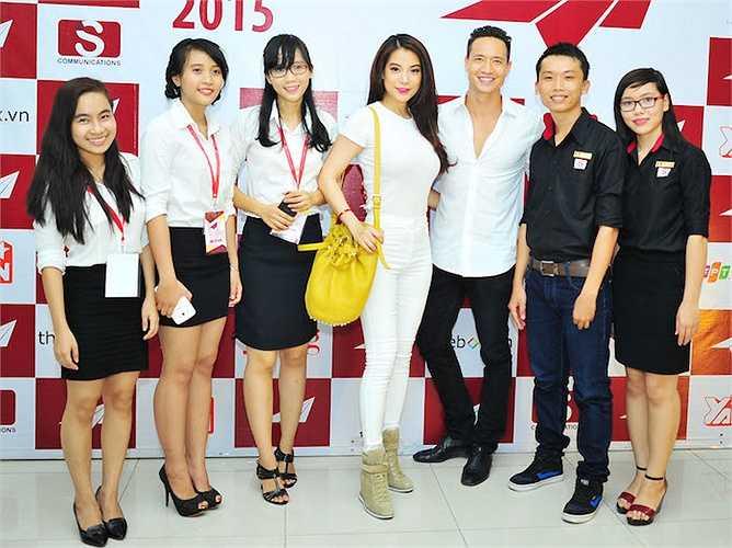 Đêm 29/3, Trương Ngọc Ánh và Kim Lý đã có cuộc giao lưu với sinh viên các trường Đại học tại TP.HCM.