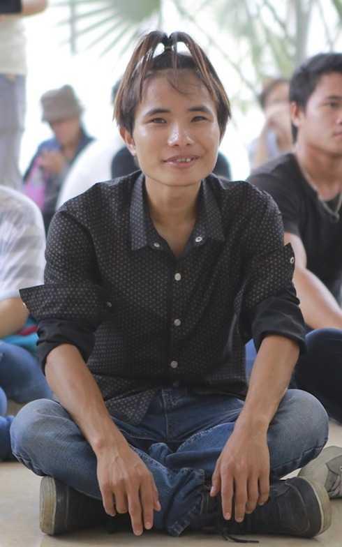 Chíp đường phố vui vẻ chờ đợi được thi ở Vietnam Idol.