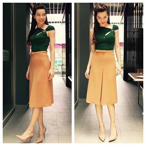 Phong cách thời trang đẹp mắt của Hà Hồ.