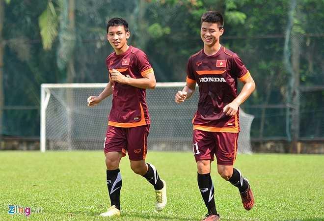Tâm trạng hào hứng của U23 Việt Nam.