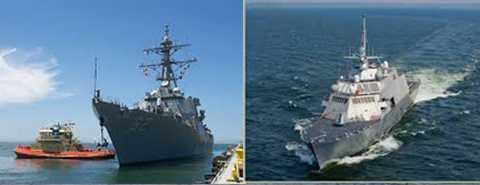 Đà Nẵng, Hải quân Mỹ, USS FITZGERALD, DDG62, USS FORT WORTH, LCS3, Hoa Kỳ