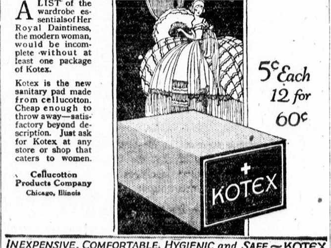 Băng vệ sinh Kotex ban đầu là ga-rô y tế cho binh lính trúng thương trong Thế chiến I. Các y tá quân đội đã biến thể miếng bông này để phục vụ mục đích vệ sinh cá nhân. Năm 1920, Kotex trở thành sản phẩm hàng tiêu dùng đầu tiên của tập đoàn Kimberly-Clark.