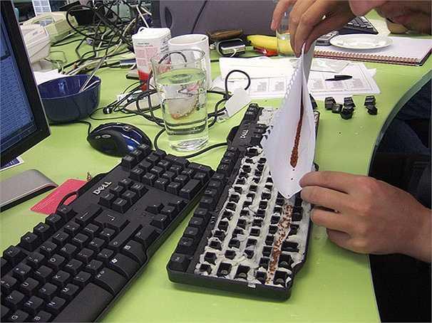 Hạt giống sẽ được rắc lên bàn phím của bạn bè