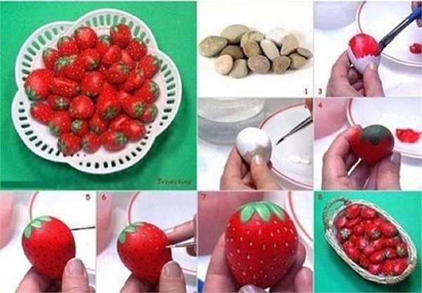 Sỏi bỗng biến thành trái dâu tây ngon ngọt