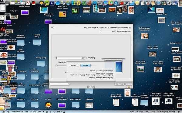 Thử lộn ngược lại các ứng dụng trên màn hình laptop