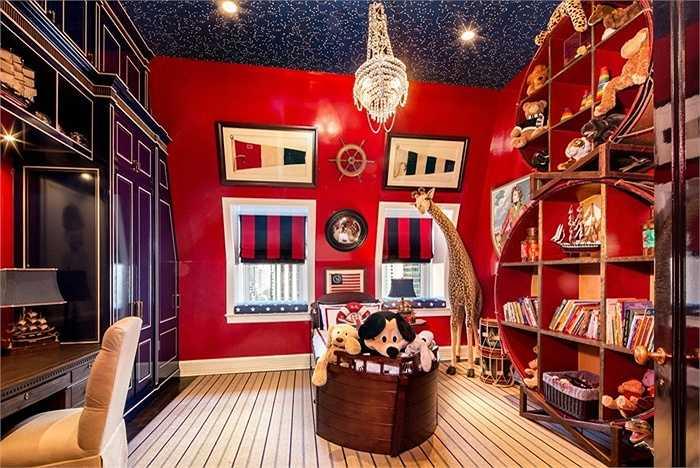 Phòng chơi của trẻ nhỏ được trang trí theo phong cách 'đậm chất' của Tommy Hilfiger.