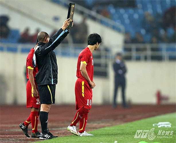 Có được bàn thắng và chơi ở mức chấp nhận được nhưng Công Phượng vẫn không được HLV Miura tin tưởng khi giao hữu với U23 Indonesia (Ảnh: Quang Minh)