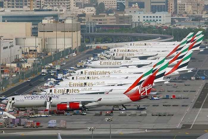 6. Sân bay quốc tế Dubai, Các tiểu vương quốc Ả-rập Thống nhất    Năm 2014, sân bay quốc tế Dubai phục vụ hơn 70 triệu lượt hành khách. Ảnh: Wikipedia.