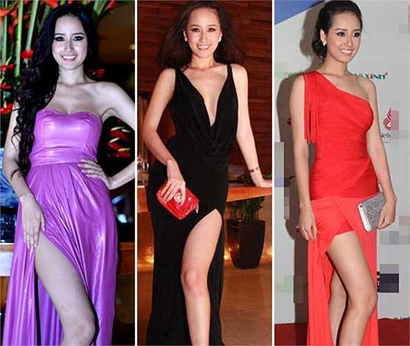 'Bắt bài' kiểu tạo dáng khoe đôi chân dài của Mai Phương Thúy.