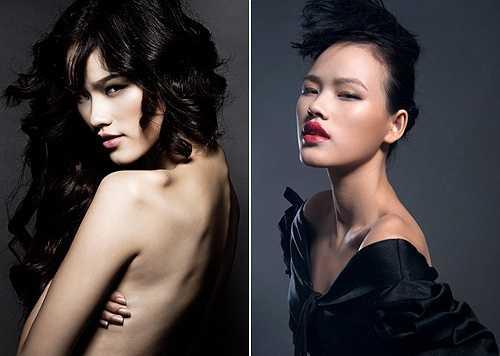 Gương mặt góc cạnh, sắc sảo mang vẻ đẹp đậm chất Á Đông chính là lợi thế của Tuyết Lan trong những bức hình beauty shoot
