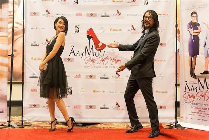 Kathy Uyên và người yêu, nhà sản xuất của 'Âm mưu giày gót nhọn' Timothy Linh Bùi.