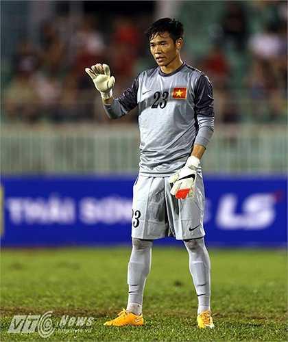 Thủ môn: Trần Nguyên Mạnh, sinh năm 1991, cao 1m77. Anh đang là một trong những thủ môn hàng đầu V-League hiện tại.