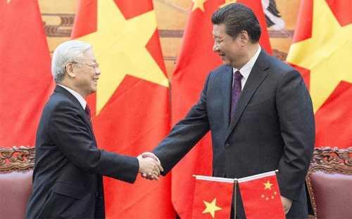 Tổng bí thư Nguyễn Phú Trọng và Tổng bí thư - Chủ tịch Trung Quốc Tập Cận Bình