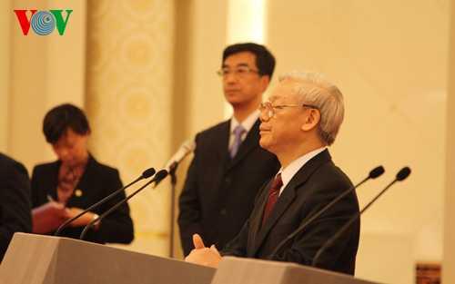 Tổng Bí thư Nguyễn Phú Trọng phát biểu tại cuộc gặp gỡ hữu nghị thanh niên Việt-Trung