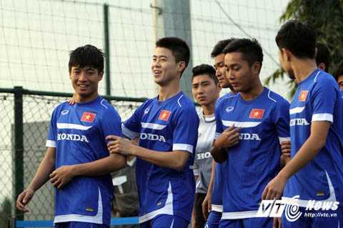 Công Phượng, Tuấn Anh chuẩn bị đấu U23 Hàn Quốc