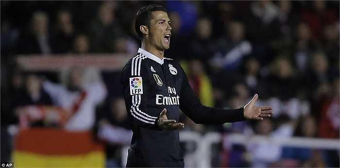 Ronaldo lĩnh đủ 5 thẻ vàng từ đầu mùa, và sẽ bị treo giò ở vòng 31 kế tiếp