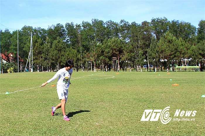 Tuấn Anh sẽ ra sân dù có thông tin anh bị tâm lý sau thất bại ở đợt lên tuyển U23 Việt Nam.(Ảnh: Minh Trần)