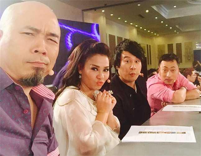 'Bà bầu' Thu Minh dễ thương trên ghế nóng Vietnam Idol.