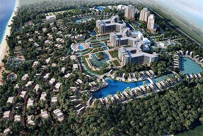 Khu nghỉ dưỡng ALMA rộng 30 ha, được thi công tại Bãi Dài, Cam Ranh, Khánh Hòa.