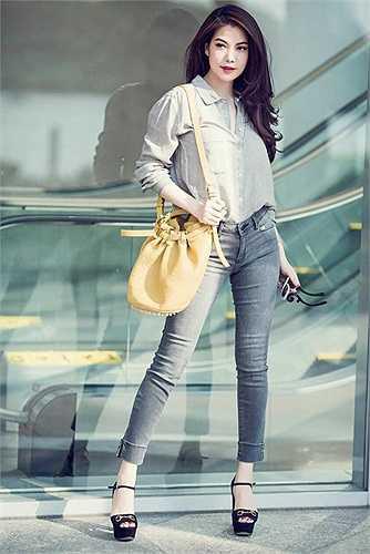 Trương Ngọc Ánh với phong cách thời trang năng động.