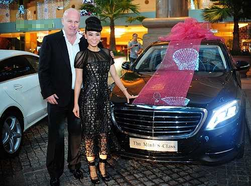 Thu Minh được chồng tặng những chiếc xe hơi đắt đỏ.