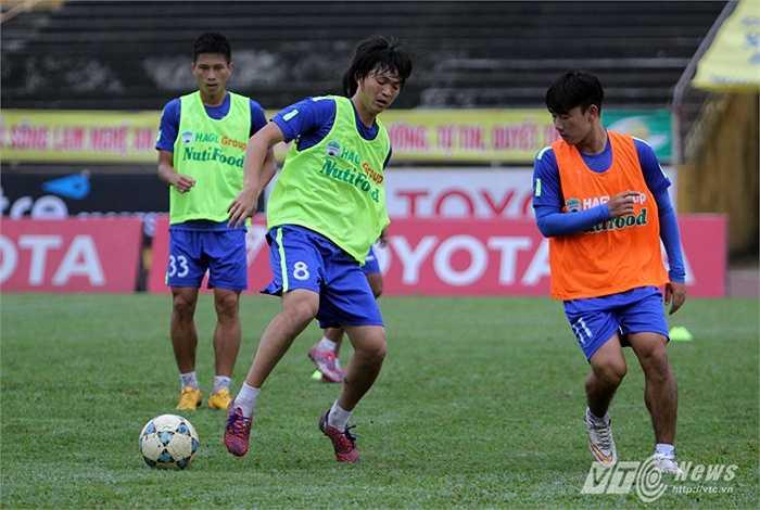 Tiền vệ quê Thái Bình đã kịp bình phục chấn thương gặp ở vòng loại U23 châu Á.(Ảnh:Hà Thành)