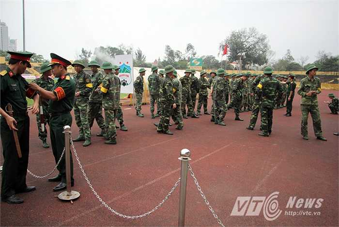 Lực lượng an ninh được triển khai bảo vệ trận đấu.