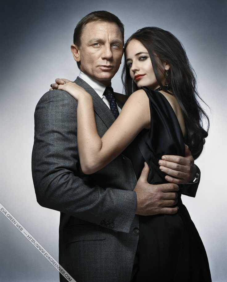 Eva Green và Daniel Craig trong Casino Royale.