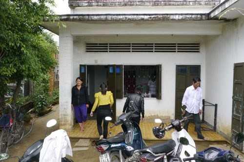 Ngôi nhà cấp 4 ở miền quê võ Bình Định.