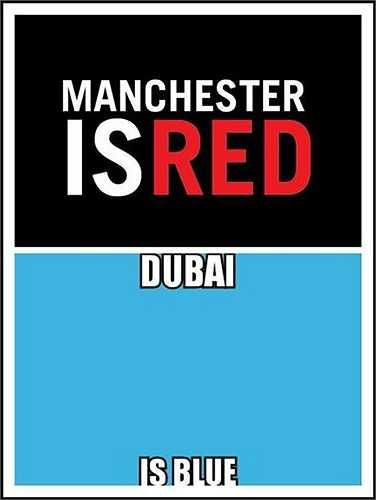 'Màu xanh thực sự tồn tại ở nơi lắm tiền chứ không phải ở Manchester'.