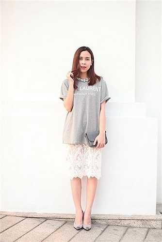 Phong cách thời trang của Lưu Hương Giang ngày càng được đánh giá cao.