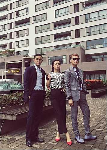 Phạm Quỳnh Anh, Sơn Tùng và Hứa Vĩ Văn trong những shoot ảnh mới.
