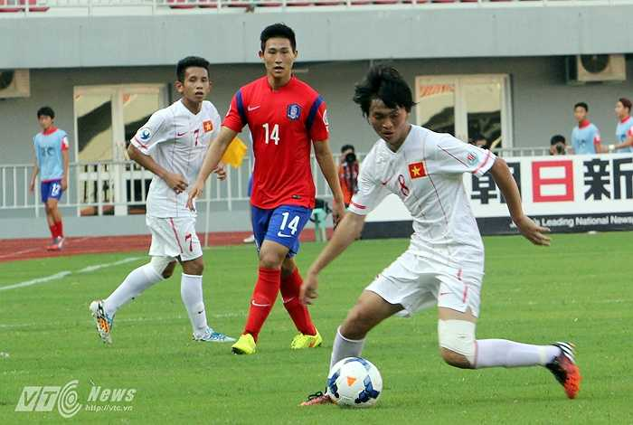 Đây là hình ảnh Tuấn Anh ở giải U19 châu Á. Một giải đấu không thành công của U19 Việt Nam nhưng cá nhân Tuấn Anh vẫn để lại những ấn tượng. (Ảnh: Hà Thành)