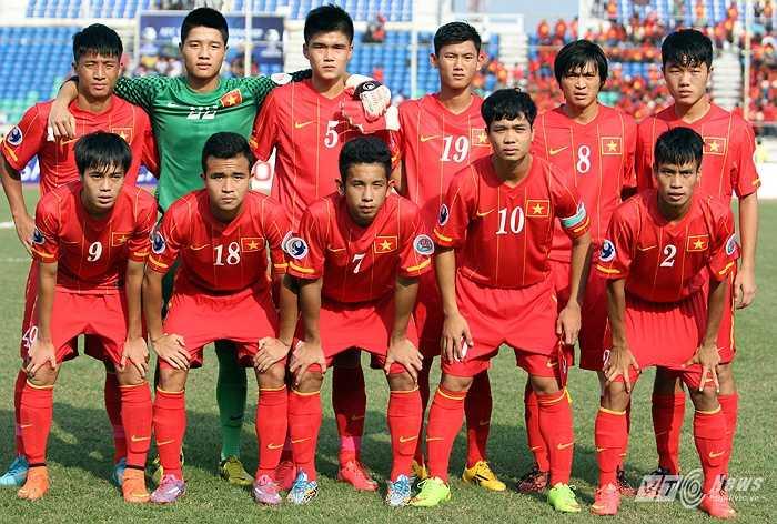 Tuấn Anh trong đội hình U19 Việt Nam ở trận gặp U19 Trung Quốc - trận đấu mà U19 Việt Nam chơi hay nhất giải U19 châu Á. (Ảnh: Hà Thành)