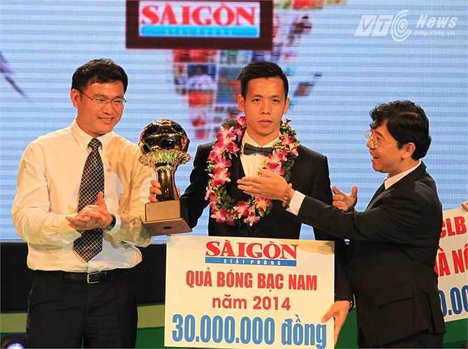 Với 180 điểm, Văn Quyến trở thành Quả bóng Bạc Việt Nam 2014.