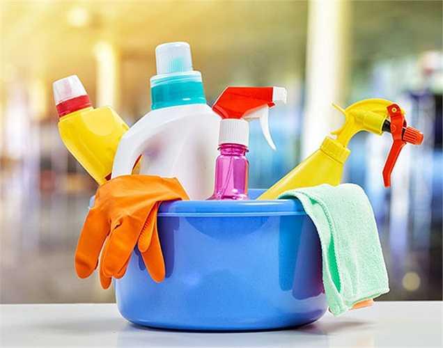 Sản phẩm làm sạch: Sản phẩm gây ung thư tại nhà bao gồm cả các sản phẩm tẩy rửa, làm sạch mà bạn đang sử dụng.
