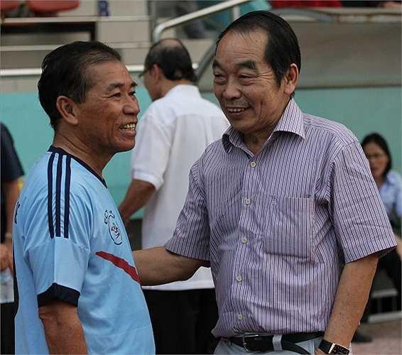 Cựu danh thủ Thể Công - Vương Tiến Dũng cũng có mặt trong Festival bóng đá Hồng Hà - Trường Sơn - Cửu Long. (ảnh: Hoàng Tùng)