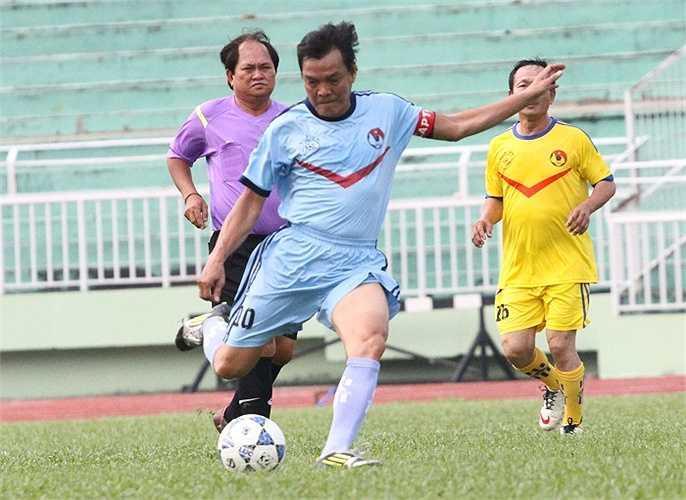 Cựu tiền đạo của Hải Quan - Nguyễn Văn Thành là tác giả bàn thắng duy nhất trong trận đấu này. (ảnh: Hoàng Tùng)