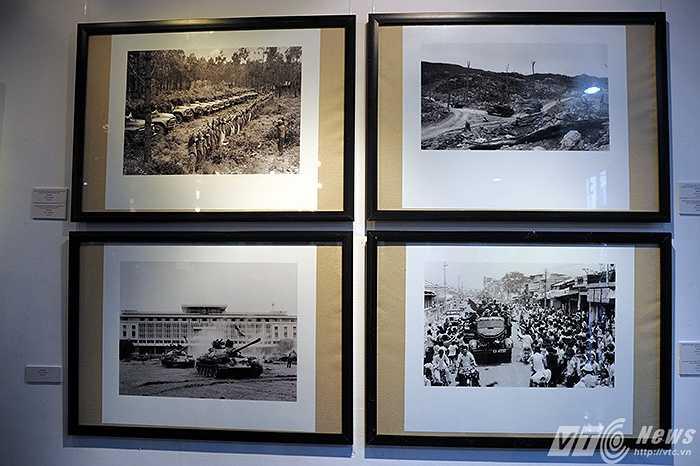 Dưới đây là một số bức ảnh do các phóng viên chiến trường miền Bắc chụp và được trưng bày trong cuộc triển lãm.