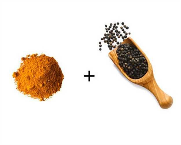 Nghê + tiêu đen: Nghê có chất chống oxy hóa curcumin nhưng chất này chuyển hóa nhanh chóng trước khi được cơ thể hấp thụ hoàn toàn. Chất piperin trong tiêu đen sẽ cải thiện khả năng sử dụng của curcumin gấp 1.000 lần.