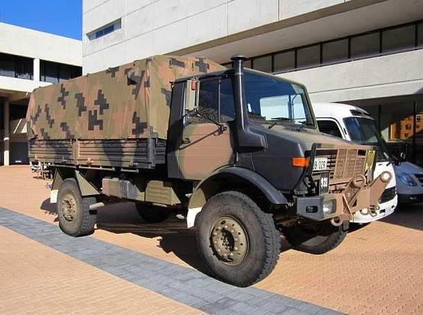 Unimog là loại xe tải quân sự 4 bánh đa dụng do Mercedes-Benz sản xuất. Với những tính năng như xe chở quân, xe cứu thương, làm xe chỉ huy… Unimog được quân đội nhiều nước trên thế giới sử dụng